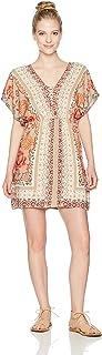 Angie Women's Criss Cross Front Dress with Kimono Sleeve