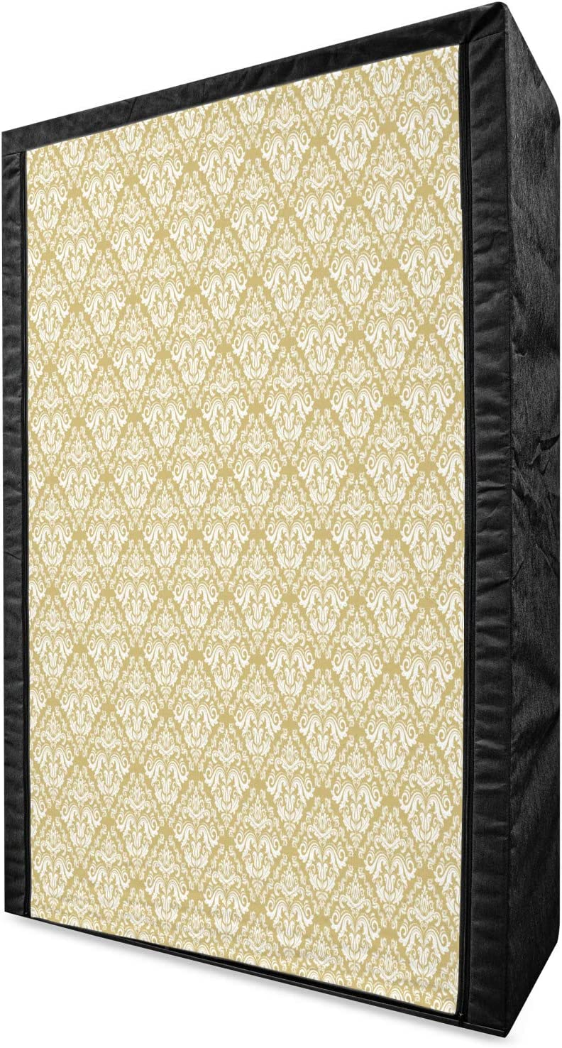 Ambesonne Damask Max 70% OFF Portable Fabric Wardrobe Sof High material and Style Vintage