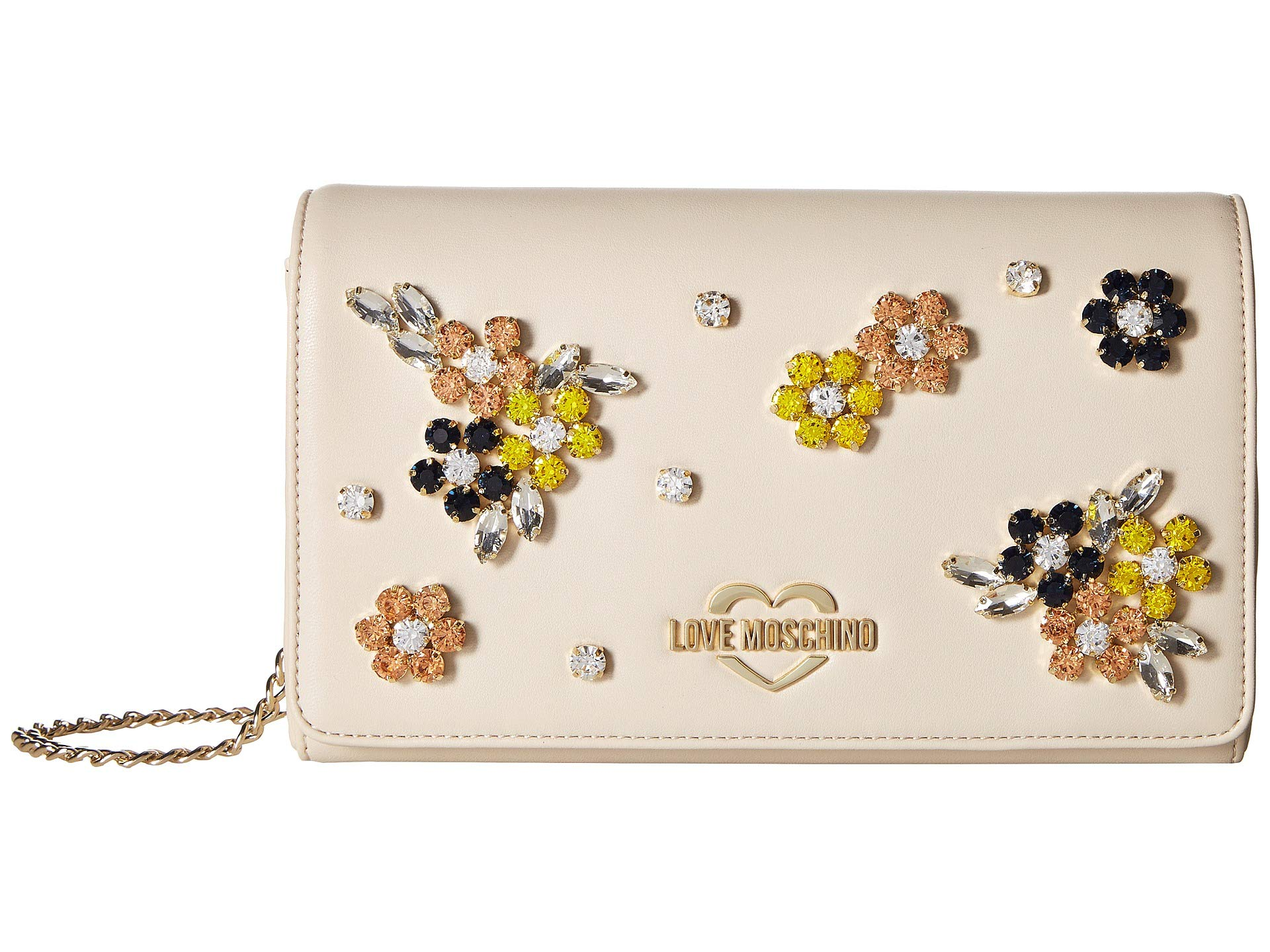Flower With Ivory Hardware Moschino Love Evening Bag 1ASISq