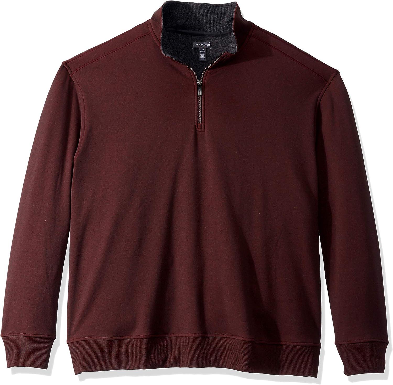Van Heusen Men's Big and Tall Flex Long Sleeve 1/4 Zip Soft Sweater Fleece