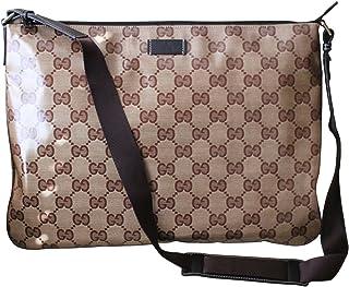 Gucci Men  039 s Laptop Sling Messenger Bag 278301  Brown Crystal GG