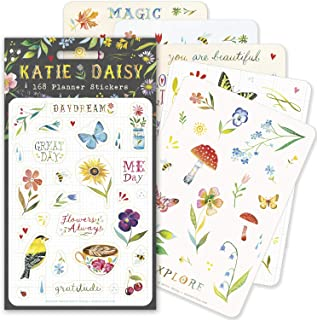 Katie Daisy Planner Stickers (6 unique sheets, 168 stickers)