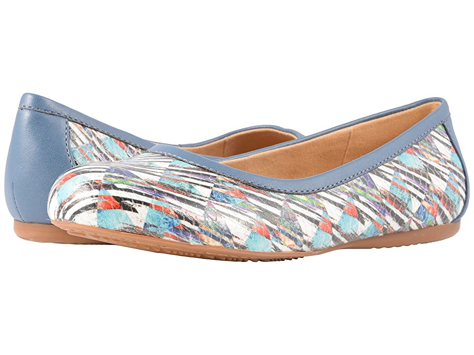 SoftWalk Napa (Blue Multi Embossed Printed Leather) Women