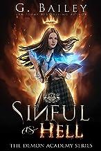 Sinful As Hell: A Reverse Harem Bully Academy Romance (The Demon Academy Book 1) (English Edition)