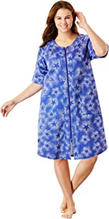 842c648f943 Dreams   Co. Women s Plus Size Short Sleeve French Terry Robe