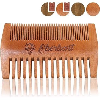 Eberbart Bartkamm + Gratis-eBook – Antistatischer Echtholzkamm für einen natürlich gepflegten Bart (Birnenholz)