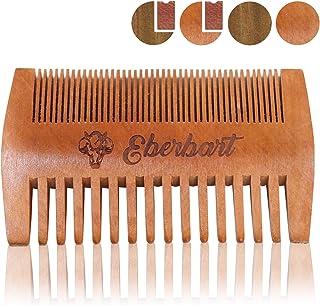Eberbart Peine para Barba | Peine de madera auténtica antiestática para el cuidado natural de la barba (madera de peral)