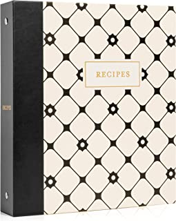 Jot & Mark Recipe Organizer 3 Ring Binder Set   50 Recipe Cards 4x6, Full Page Dividers, Plastic Page Card Protectors