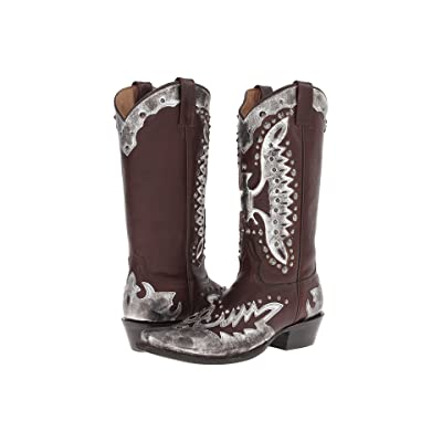 Stetson Studded Eagle Boot (Cafe/Silver) Cowboy Boots