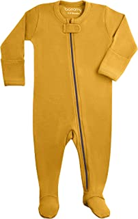 Baby Unisex Organic Cotton Zipper Footie-Footed Sleep and Play with Mittens
