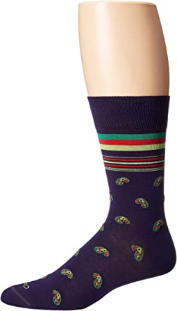Striped Paisley Socks