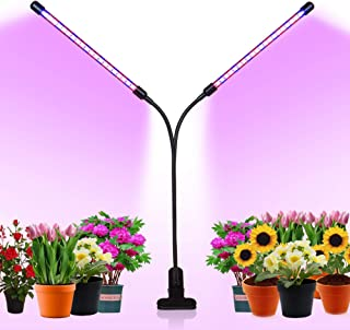 Cliusnra Indoor Plants Grow Light: 2-Head Full Timer House Sun Hanging Floor Lamp Tall Real Large Kit Artificial USB Blue ...