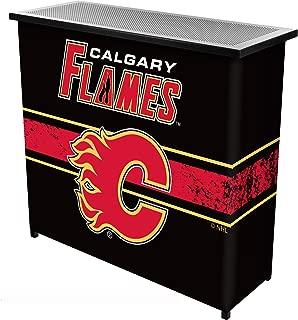 Trademark Gameroom NHL Calgary Flames Portable Bar with Case