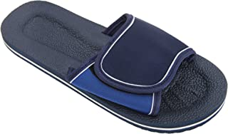 FLOSO Mens Two Tone Touch Fastening Flip Flops