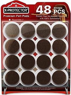 Felt Furniture Pads X-PROTECTOR - 48 Premium Felt Pads Floor Protector - Chair Felts Pads for Furniture Feet Wood Floors -...