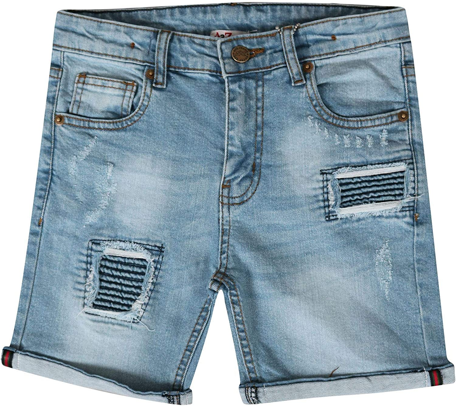 YAANCUN Boys Denim Shorts Bermuda Cotton Adjustable Waist 3-8 Years