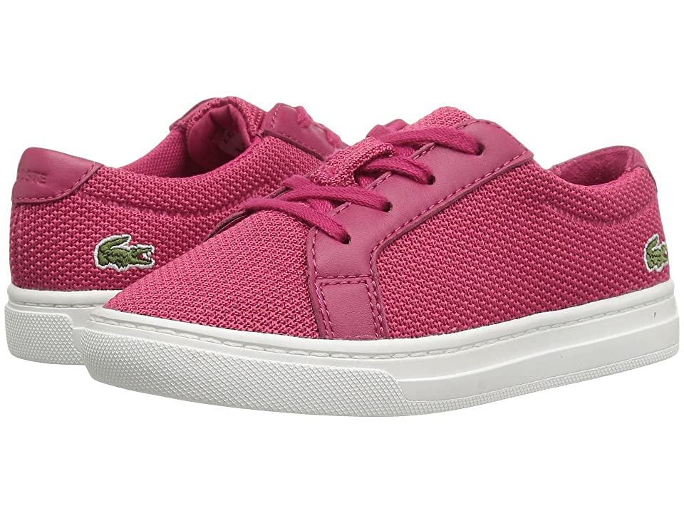 Lacoste Kids L.12.12 BL 2 CAI (Toddler/Little Kid) (Dark Pink) Kid