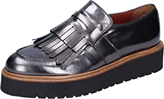 TRIVER FLIGHT Moccasins Womens Leather Grey