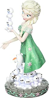 "Enesco Grand Jester Studios Elsa and Olaf from ""Frozen Fever"" Stone Resin Disney Figurine"