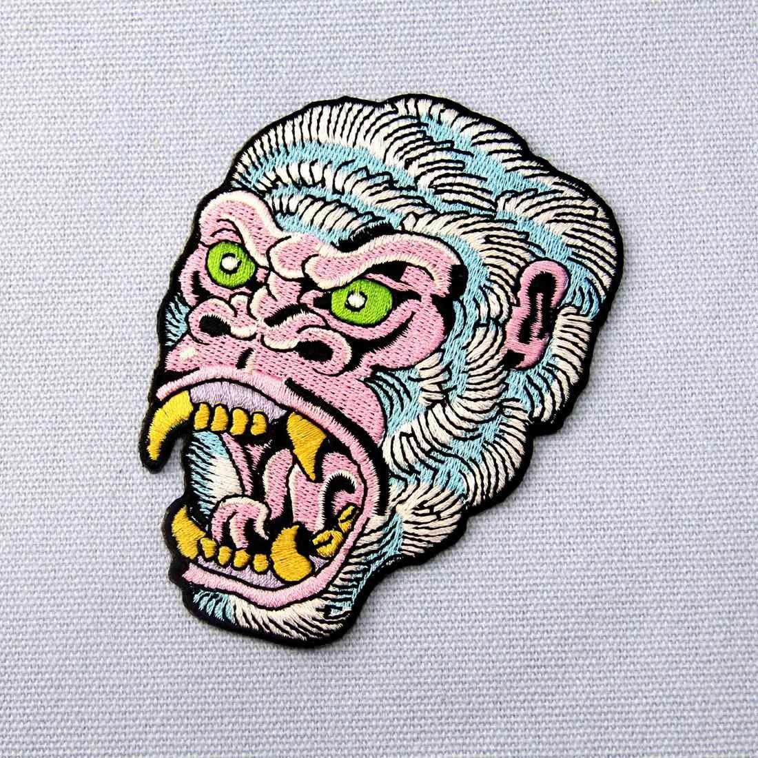 Parche termoadhesivo para la ropa, diseño de El gorila rugiente: Amazon.es: Hogar