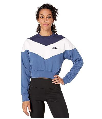 Nike NSW Heritage Crew (Mystic Navy/Midnight Navy/Midnight Navy) Women