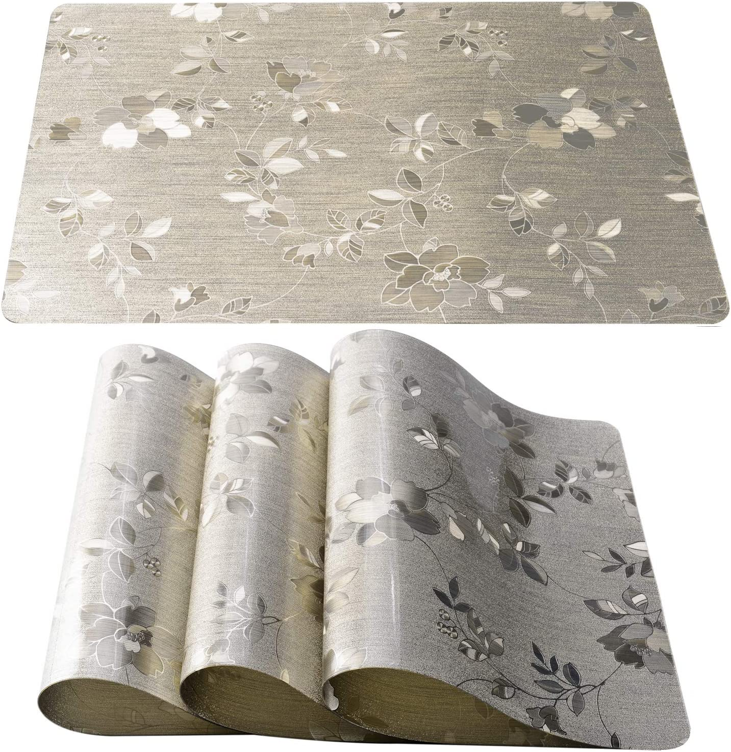 DUOFIRE Placemats for Ranking TOP4 Super sale period limited Dining Table Vinyl PVC Washable