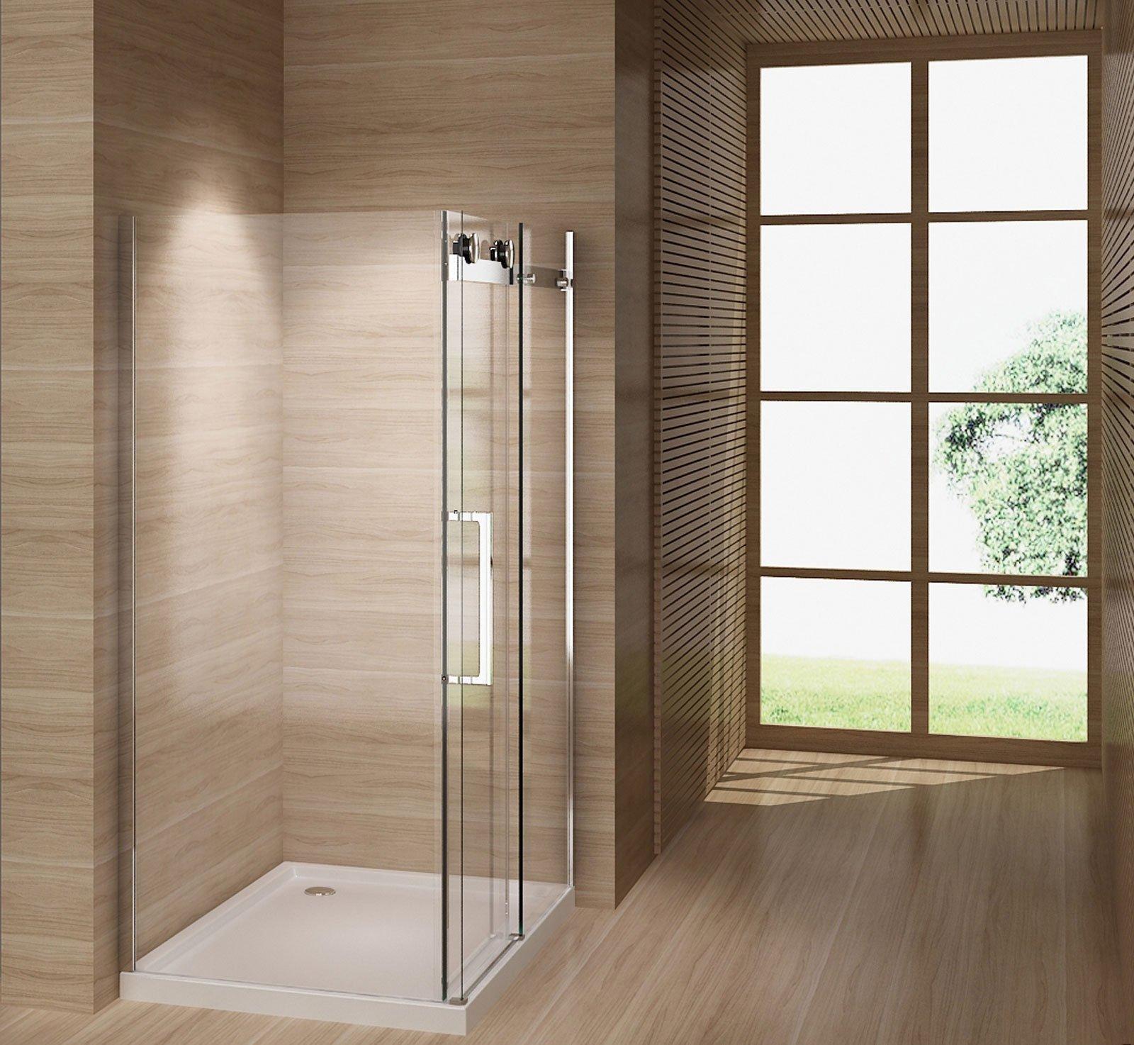Mampara de ducha de junio de 120 x 80 cm con ducha Taza de aluminio abs mueble de baño: Amazon.es: Bricolaje y herramientas
