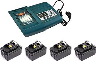 YASI MFG/® 2X BL1830 18 V 3,0 Ah Bater/ía para Makita BL1830 BL1830B BL1840 BL1840B BL1850 BL1850B BL1815 BL1815N /& para Makita DC18RD Cargador de Bater/ía y bater/ías cargables Cargador de bater/ía
