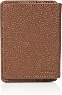 Cole Haan Men's Pebble Leather Wallet with Id Flap, Money Clip