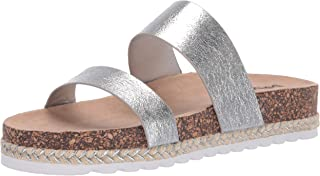 Dirty Laundry by Chinese Laundry Women's DOUBLE PLAY Sandal, SILVER METALLIC, 9 M US