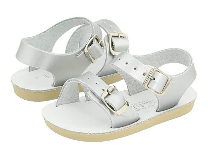 Salt Water Sandal by Hoy Shoes  Sun-San - Sea Wees (Infant/Toddler) (Silver) Girls Shoes