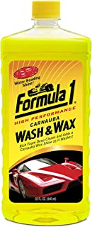 Formula 1 Carnauba Car Wash and Wax - Removes Dirt and Grime, Protects and Shines - 32 oz.
