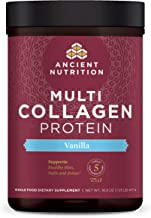 Multi Collagen Protein Powder, Vanilla, Formulated by Dr. Josh Axe, 5 Types of Food..