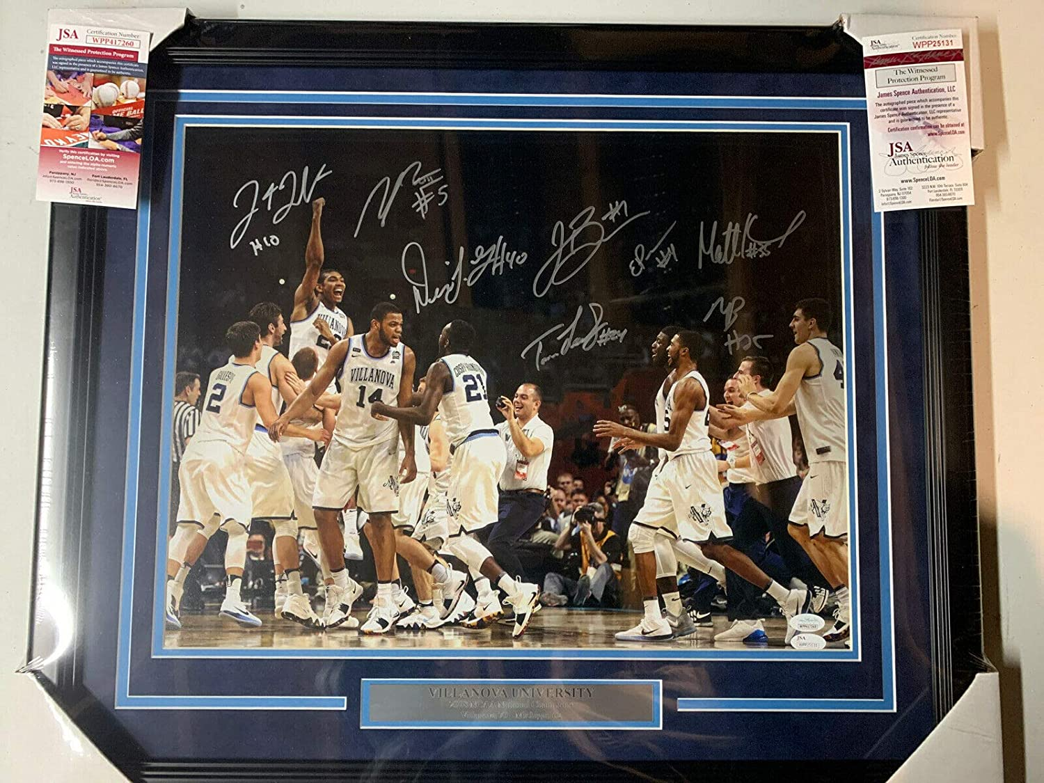 Villanova 2018 Team Same day shipping 8 Autograph Champions Signed OFFicial 16x20 National
