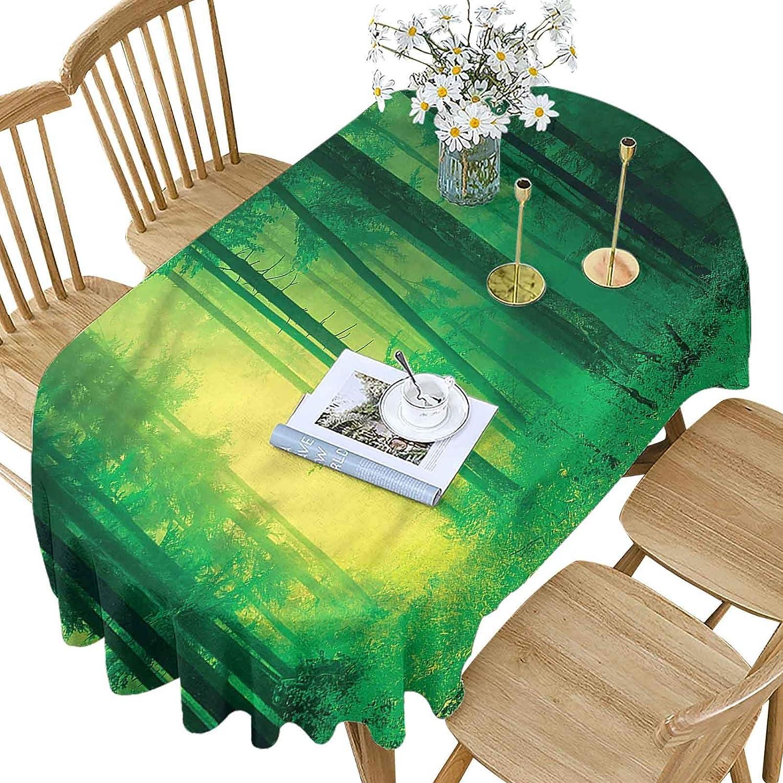 Long-awaited Hiiiman Mystic Award Polyester Oval Tablecloth Springtime Forest Fairy