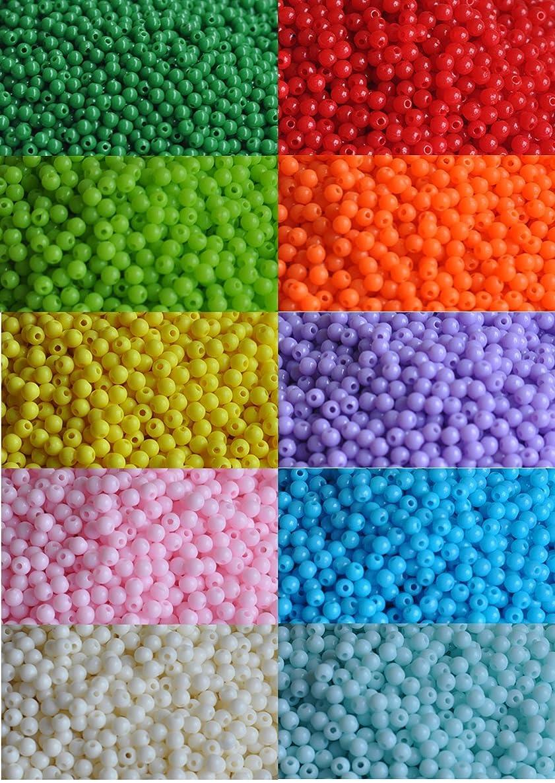 2000 pieces of bulk plastic rainbow opaque mixed color pony beads handmade jewelry beads
