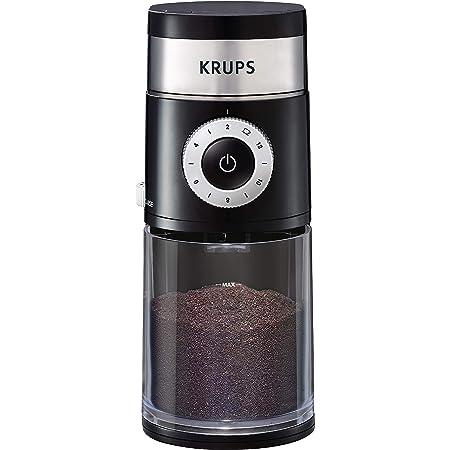 KRUPS Precision Grinder - Cafetera plana para goteo (12 tazas), color negro