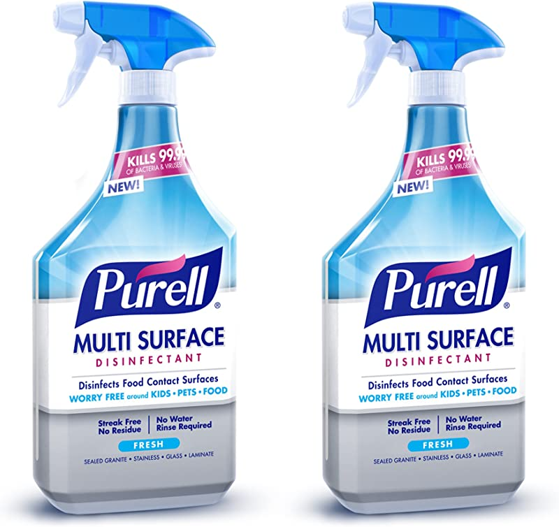 PURELL Multi Surface Disinfectant Spray Fresh Fragrance 28 Fl Oz Trigger Spray Bottle Pack Of 2 2845 02 ECCAL