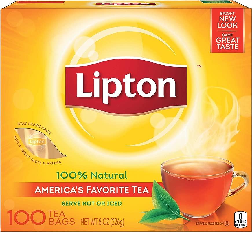 Lipton Black Tea Bags 100 Natural Tea 100 Ct