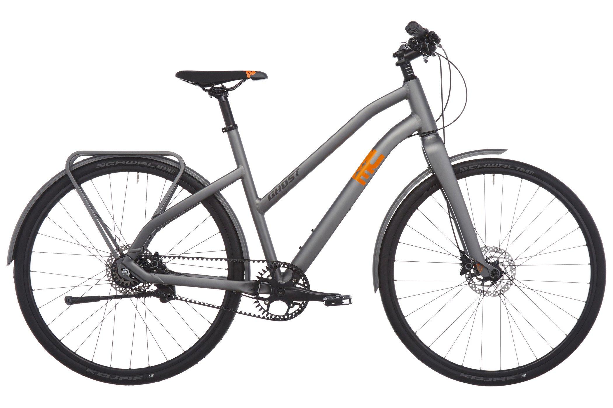 Ghost Square Urban 6 Miss - Bicicleta urbana Mujer - gris/naranja ...