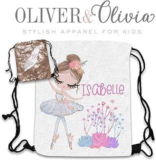 Personalized Sequin Ballerina Backpack Dancing Bag Ballerina Party Favor Dance Team Birthday Gift Dancer Drawstring Backpack Monogram Backpack