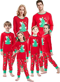 Christmas Family Matching Pajamas Set Santa's Deer Sleepwear for The Family Boys and Girls