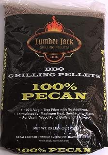 Lumber Jack 100 Percent Pecan BBQ Grilling Pellets 40 Pounds (2 ea 20 Pound Bags)