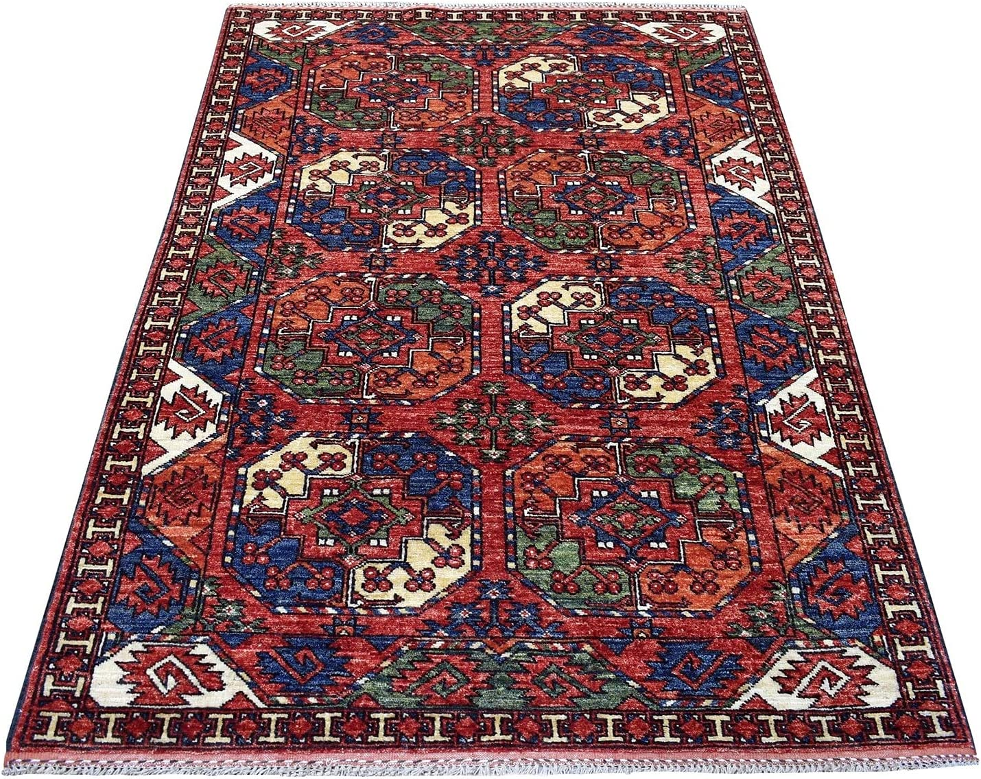 Sale price Shahbanu Rugs Red with Soft Cheap sale Colors Feet Kno Hand Design Elephant