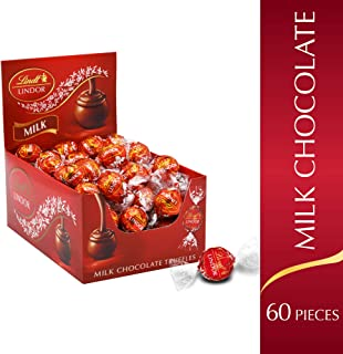 Lindt LINDOR Milk Chocolate Truffles, 60 Count per pack, 25.4 Ounce