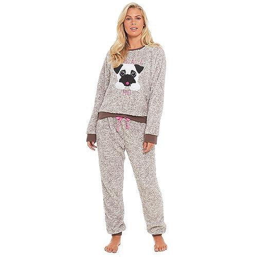 2748ebbb1a Slumber Hut® Pug Dog Llama Fleece Pyjamas Novelty Loungewear Twosie PJs  Matching Family Mother Daughter