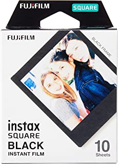 Fujifilm Instax Square Frame Film Sheets 10 Pack, Black (87302)