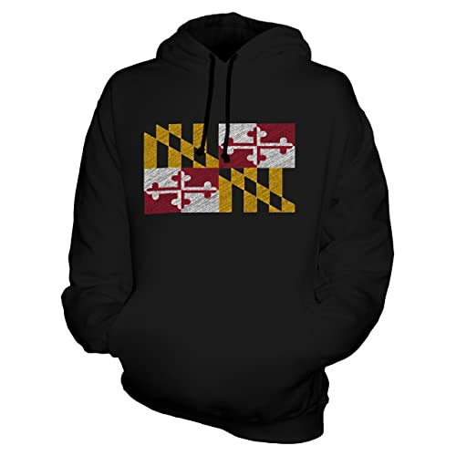 53ed3952613 CandyMix Unisex Maryland State Scribble Flag Mens/Womens Hoodie
