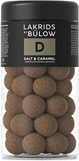 LAKRIDS BY BÜLOW - D - Salt & Caramel - 295g - Dänische Gourmet Lakritz-Kugeln - Süßer Lakritzkern umhüllt von Karamell-Schokolade & Meersalz - Süßigkeiten Geschenk für Lakritze Liebhaber