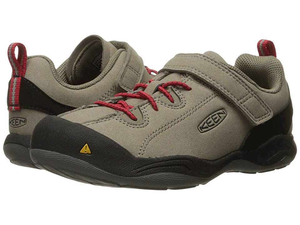 Keen Kids Jasper (Toddler/Little Kid) (Brindle/Tango Red) Kids Shoes